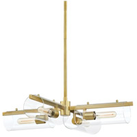Mitzi H326804-AGB Ariel 4 Light 28 inch Aged Brass Chandelier Ceiling Light