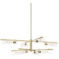 Mitzi H326808-AGB Ariel 8 Light 53 inch Aged Brass Chandelier Ceiling Light