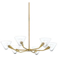 Mitzi H327806-AGB Isabella 6 Light 32 inch Aged Brass Chandelier Ceiling Light