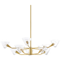 Mitzi H327810-AGB Isabella 10 Light 42 inch Aged Brass Chandelier Ceiling Light