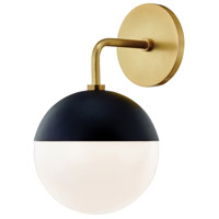 Mitzi H344101-AGB/BK Renee 1 Light Aged Brass / Black Wall Sconce Wall Light