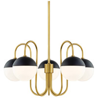 Aged Brass / Black Steel Chandeliers