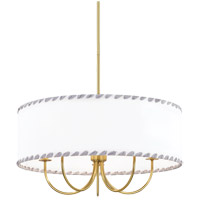 Mitzi H346805-AGB Hannah 5 Light 24 inch Aged Brass Chandelier Ceiling Light
