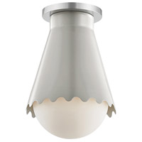Mitzi H351501-PN/GRY Lauryn 1 Light 7 inch Polished Nickel / Gray Flush Mount Ceiling Light