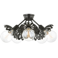Mitzi H353605-OB Alyssa 5 Light 24 inch Old Bronze Semi Flush Ceiling Light