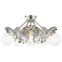 Mitzi H353605-PN Alyssa 5 Light 24 inch Polished Nickel Semi Flush Ceiling Light