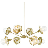 Mitzi H353808-AGB Alyssa 8 Light 42 inch Aged Brass Chandelier Ceiling Light