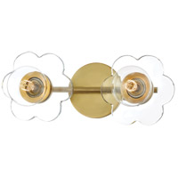 Mitzi H357302-AGB Alexa 2 Light 14 inch Aged Brass Bath Vanity Wall Light