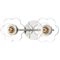Mitzi H357302-PN Alexa 2 Light 14 inch Polished Nickel Bath Vanity Wall Light