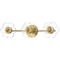 Mitzi H357303-AGB Alexa 3 Light 22 inch Aged Brass Bath Vanity Wall Light