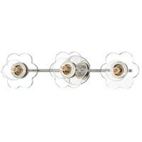 Mitzi H357303-PN Alexa 3 Light 22 inch Polished Nickel Bath Vanity Wall Light