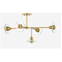 Mitzi H357805-AGB Alexa 5 Light 28 inch Aged Brass Chandelier Ceiling Light
