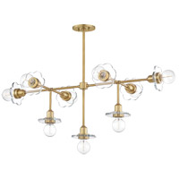 Mitzi H357809-AGB Alexa 9 Light 23 inch Aged Brass Chandelier Ceiling Light
