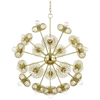 Mitzi H359819-PB Serena 9 Light 30 inch Polished Brass Chandelier Ceiling Light