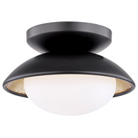 Mitzi H368601S-BLK/GL Cadence LED 7 inch Black Lustro / Gold Leaf Combo Semi Flush Ceiling Light