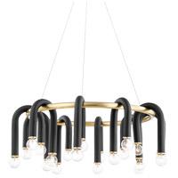Mitzi H382820-AGB/BK Whit 20 Light 29 inch Aged Brass/Black Chandelier Ceiling Light