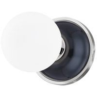 Mitzi H383501-PN/MBL Nina 1 Light 6 inch Polished Nickel/Midnight Blue Flush Mount Ceiling Light
