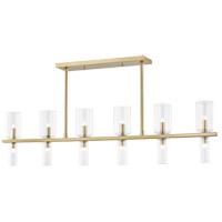 Mitzi H384912-AGB Tabitha 12 Light 42 inch Aged Brass Linear Pendant Ceiling Light