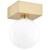 Mitzi H385501-AGB Aspyn 1 Light 5 inch Aged Brass Flush Mount Ceiling Light