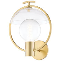 Mitzi H387101-AGB Ringo 1 Light 11 inch Aged Brass Wall Sconce Wall Light
