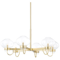 Mitzi H408806-AGB Korey 6 Light 34 inch Aged Brass Chandelier Ceiling Light