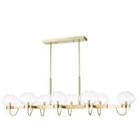 Mitzi H408908-AGB Korey 8 Light 58 inch Aged Brass Linear Pendant Ceiling Light