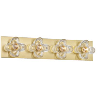 Mitzi H410304-AGB Shea 4 Light 22 inch Aged Brass Bath And Vanity Wall Light