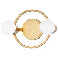 Mitzi H413302-GL Hope 2 Light 12 inch Gold Leaf Bath And Vanity Wall Light