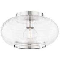 Mitzi H418501-PN Maggie 1 Light 13 inch Polished Nickel Flush Mount Ceiling Light