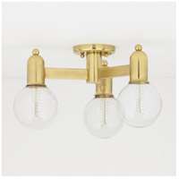 Mitzi H419603-AGB Bryce 3 Light 18 inch Aged Brass Semi Flush Ceiling Light