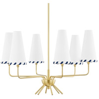 Mitzi H436806-AGB Cassie LED 27 inch Aged Brass Chandelier Ceiling Light