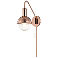Mitzi HL111101-POC Riley 1 Light 6 inch Polished Copper Wall Sconce Wall Light