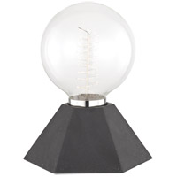 Lynn 9 inch 60 watt Graphite Table Lamp Portable Light