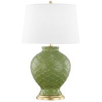 Mitzi HL269201-SG Demi 25 inch 100 watt Sage and Gold Leaf Table Lamp Portable Light