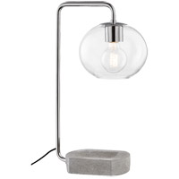 Mitzi HL280201-PN Margot 21 inch 60 watt Polished Nickel Table Lamp Portable Light