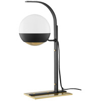 Mitzi HL409201-AGB/BK Aly 21 inch 60.00 watt Aged Brass/Black Table Lamp Portable Light