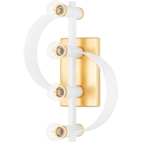 Mitzi H379104-GL/WH Maddie 4 Light 10 inch Gold Leaf/White Wall Sconce Wall Light