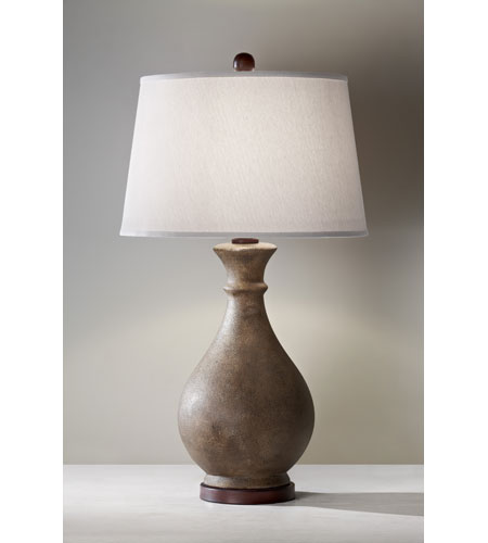 Feiss Antica Ceramica 1 Light Table Lamp in Dappled Ivory 10154DIV