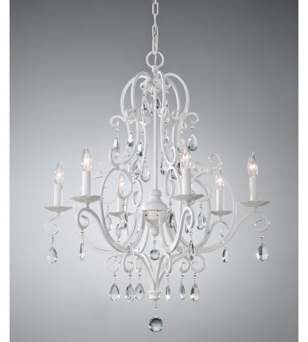 Feiss F1902/6SGW Chateau Blanc 6 Light 25 inch Semi Gloss White Chandelier Ceiling Light photo