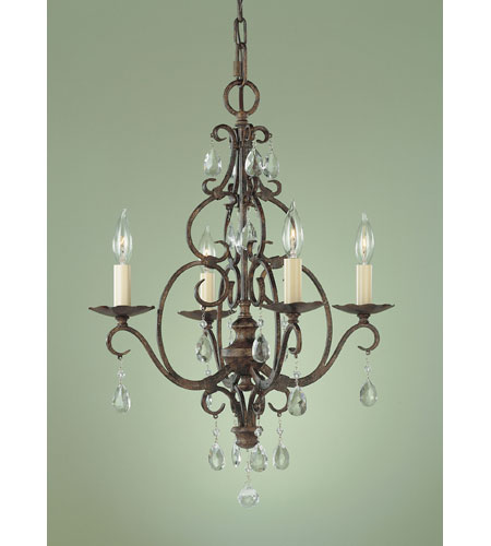 Feiss F1904/4MBZ Chateau 4 Light 17 inch Mocha Bronze Mini Chandelier Ceiling Light photo