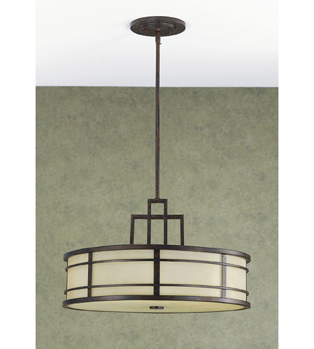 Murray Feiss Ceiling Fan Light Kit: Feiss F2081/3GBZ Fusion 3 Light 21 Inch Grecian Bronze