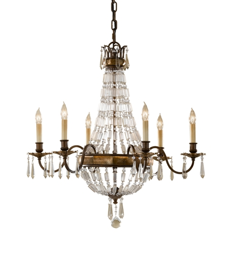 Feiss F2461/6OBZ/BRB Bellini 6 Light 27 inch Oxidized Bronze and British Bronze Chandelier Ceiling Light photo