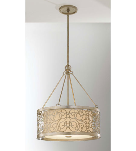 Feiss Arabesque 4 Light Chandelier in Silver Leaf Patina F2537/4SLP photo