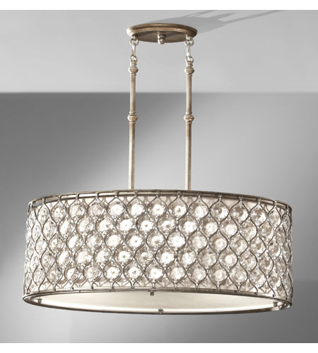Feiss F2569/3BUS Lucia 3 Light 16 inch Burnished Silver Chandelier Ceiling Light in Standard photo