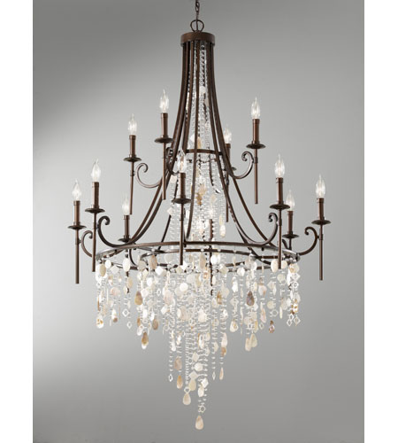 Feiss F266184HTBZ Cascade 12 Light 37 inch Heritage Bronze – Murray Feiss Chandeliers