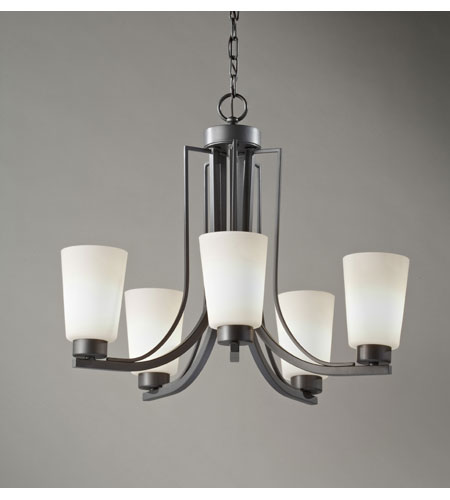 Feiss Weston 5 Light Chandelier in Colonial Iron F2761/5CI photo
