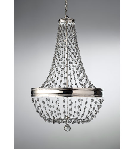 Feiss Malia 8 Light Chandelier in Polished Nickel F2810/8PN photo