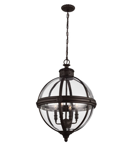 Feiss Adams 4 Light Chandelier Large Pendant In Oil Rubbed