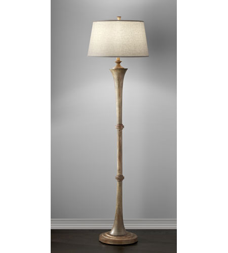 Feiss Canyon Creek 1 Light Floor Lamp in Driftwood and Copper FL6300DRFW/CO