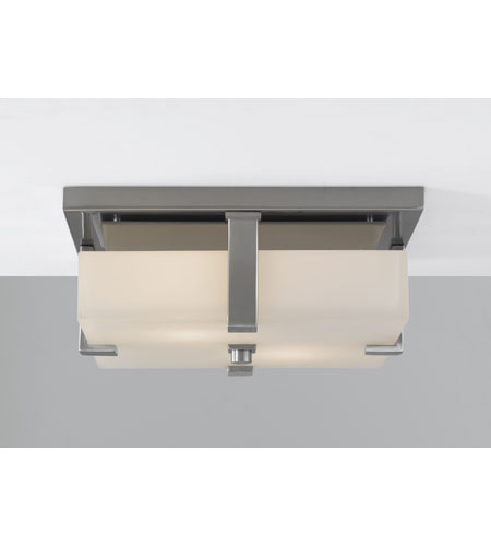 Feiss Halstad 2 Light Flush Mount in Brushed Steel FM306BS